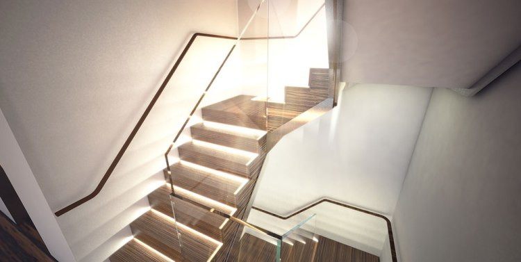 West Village New York Townhouse Stair